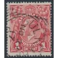 AUSTRALIA - 1917 1d bright brown-red KGV Head (shade = G24), used – ACSC # 71O