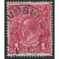 AUSTRALIA - 1918 1d deep red-rosine KGV Head (G70), used – ACSC # 72J