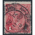 AUSTRALIA - 1918 1d red-brown KGV Head (shade = G76), perf. OS, used – ACSC # 72Obb