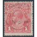 AUSTRALIA - 1917 1d pinkish salmon KGV Head (shade = G26), used – ACSC # 71R