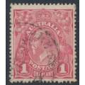 AUSTRALIA - 1918 1d lilac-pink KGV Head (shade = G28½), used – ACSC # 71T