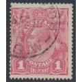 AUSTRALIA - 1918 1d pale lilac-pink KGV Head (shade = G28½), used – ACSC # 71T