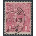 AUSTRALIA - 1918 1d rose-lilac KGV Head (shade = G28½), used – ACSC # 71T
