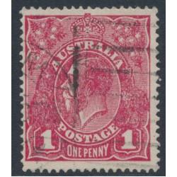 AUSTRALIA - 1918 1d lilac-rose KGV Head (shade = G70½), used – ACSC # 72KA