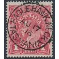 AUSTRALIA - 1915 1d dull red KGV Head (G16), EAGLEHAWK NECK, Tasmania cancel