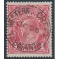 AUSTRALIA - 1915 1d dull red KGV Head (G16), WESTERN CREEK, Tasmania cancel