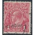AUSTRALIA - 1918 1d carmine-red KGV Head (G31), 'Ferns', used – ACSC # 71Y(4)ia