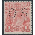 AUSTRALIA - 1917 1d pale rose KGV Head (shade = G21), 'dry ink', MH – ACSC # 71Kca + bb
