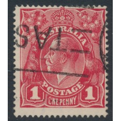AUSTRALIA - 1915 1d scarlet-red KGV Head (G17), 'CNE for ONE' [VIII/45], used – ACSC # 71G(4)q