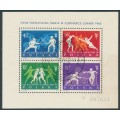POLAND - 1963 Fencing World Championships M/S, used – Michel # Block 29
