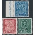 POLAND - 1946 Bureau Internationale d'Education (B.I.E.) set of 3, MNH – Michel # 445-447
