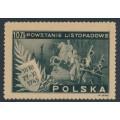 POLAND - 1945 10Zł slate-grey November Uprising, MNH – Michel # 420