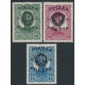POLAND - 1918 10H to 45H Austro-Hungarian issue o/p POCZTA POLSKA, MH – Michel # 17-19