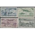 POLAND - 1952 55Gr to 5Zł Airmail, imperforate set of 4, MNH – Michel # 728B-731B