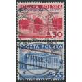 POLAND - 1936 Gordon Bennett overprint set of 2, used – Michel # 313-314