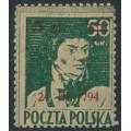 POLAND - 1945 5Zł on 50Gr green Kościuszko, MH – Michel # 398