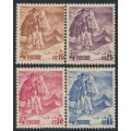 POLAND - 1939 15Gr to 55Gr Skiing set of 4, MH – Michel # 351-354