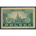POLAND - 1945 1Zł + 5Zł green Postal Congress, MH – Michel # 403