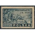 POLAND - 1945 1Zł + 9Zł grey-black Danzig/Gdańsk, MH – Michel # 407