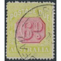 AUSTRALIA - 1922 6d carmine/green Postage Due, perf. 14, crown over A wmk, used – SG # D97