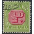 AUSTRALIA - 1934 ½d carmine/green Postage Due, perf. 11, CofA wmk, used – SG # D105