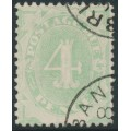 AUSTRALIA - 1902 4d emerald Postage Due, blank base, upright watermark, used – SG # D5w