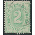 AUSTRALIA - 1902 2/- emerald Postage Due, perf. 12:11½, upright watermark, used – SG # D20