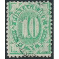 AUSTRALIA - 1902 10d emerald Postage Due, perf. 12:11, upright watermark, used – SG # D30