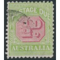AUSTRALIA - 1914 ½d rose-red/green Postage Due, upright crown A watermark, used – SG # D77