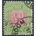 AUSTRALIA - 1914 ½d rose-red/green Postage Due, sideways crown A watermark, used – SG # D77a