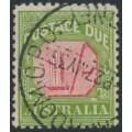 AUSTRALIA - 1934 1/- carmine/green Postage Due, perf. 11, CofA watermark, used – SG # D111