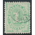 AUSTRALIA - 1902 1/- emerald Postage Due, perf. 12:11½, crown NSW wmk, used – SG # D19