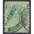 AUSTRALIA - 1903 5/- emerald Postage Due, perf. 12:11, inverted watermark, used – SG # D33