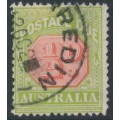 AUSTRALIA - 1913 ½d scarlet/pale green Postage Due, perf. 12½:12½, used – SG # D76