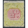 AUSTRALIA - 1923 ½d carmine/pale yellow-green Postage Due, perf. 14, used – SG # D91