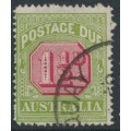 AUSTRALIA - 1925 1½d carmine/bright yellow-green Postage Due, perf. 14, used – SG # D93