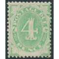 AUSTRALIA - 1902 4d emerald Postage Due, blank base, inverted watermark, MH – SG # D5