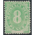 AUSTRALIA - 1902 8d emerald Postage Due, blank base, upright watermark, MNH – SG # D7