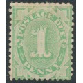 AUSTRALIA - 1902 1d emerald Postage Due, completed base, upright watermark, perf. 12:11, MH – SG # D23