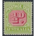 AUSTRALIA - 1919 ½d carmine/apple-green Postage Due, crown A watermark, MH – SG # D79a