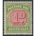 AUSTRALIA - 1938 1d carmine/dull yellow-green Postage Due, original die, CofA watermark, MNH – SG # D113