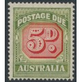 AUSTRALIA - 1948 5d red/deep green Postage Due, CofA watermark, MNH – SG # D124