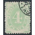 AUSTRALIA - 1902 4d emerald Postage Due, blank base, inverted watermark, CTO – SG # D5