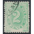 AUSTRALIA - 1902 2d emerald-green Postage Due, blank base, used – SG # D3