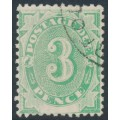 AUSTRALIA - 1902 3d emerald-green Postage Due, blank base, used – SG # D4