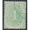 AUSTRALIA - 1902 4d emerald-green Postage Due, blank base, used – SG # D5w