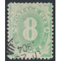 AUSTRALIA - 1902 8d emerald-green Postage Due, blank base, used – SG # D7