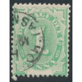 AUSTRALIA - 1902 1d emerald Postage Due, blank base, perf. 12:12, inverted watermark, used – SG # D2