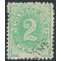 AUSTRALIA - 1902 2d emerald Postage Due, blank base, perf. 12:12, upright watermark, used – SG # D3