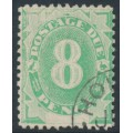 AUSTRALIA - 1902 8d emerald Postage Due, blank base, perf. 12:11½, upright watermark, used – SG # D7